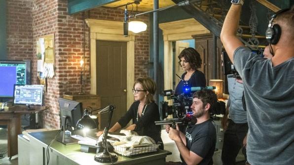 Annie Potts as Olivia Brody and Zoe McLellan as Meredith Brody