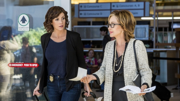 Annie Potts as Olivia Brody and Zoe McLellan as Meredith Brody