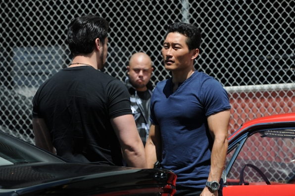Daniel Dae Kim as Chin Ho Kelly and Christopher Sean as Gabriel Waincroft