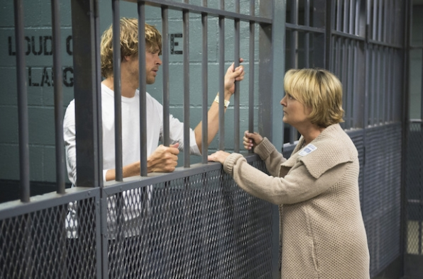 Eric Christian Olsen as Marty Deeks and Pamela Reed as Roberta Deeks