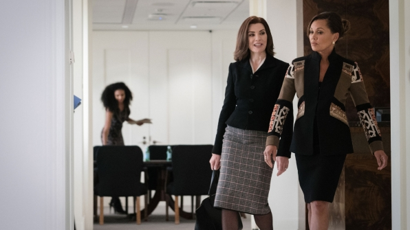 Julianna Margulies as Alicia Florrick and Vanessa Williams as Courtney Paige