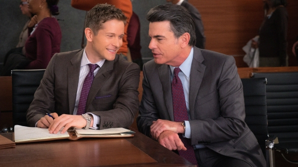 Matt Czuchry as Cary Agos and Peter Gallagher as Ethan Carver