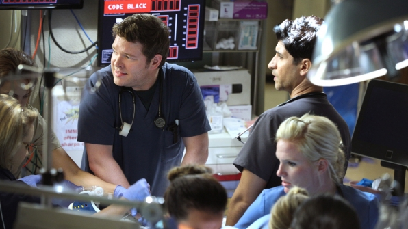 Harry Ford as Dr. Angus Leighton and Raza Jaffrey as Dr. Neal Hudson