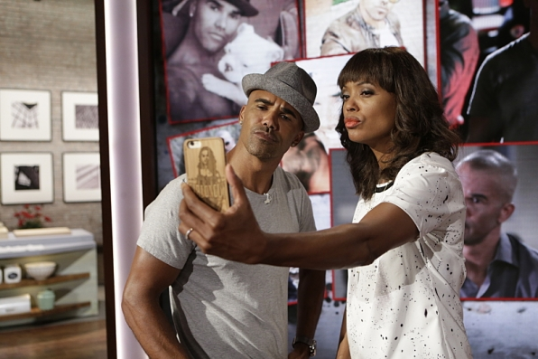 Shemar Moore and Aisha Tyler