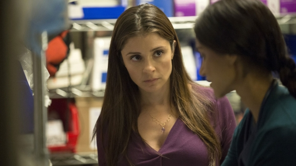 Shiri Appleby as Carla and Melanie Chandra as Dr. Malaya Pineda