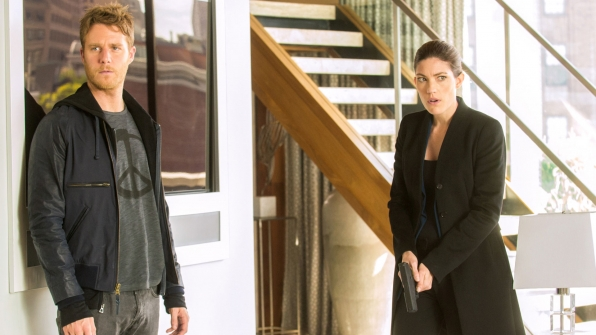 Jake McDorman as Brian Finch and Jennifer Carpenter as Agent Rebecca Harris