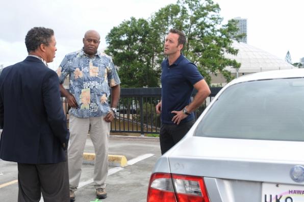 Dominic Hoffman as Dean Andrew Letoa, Chi McBride as Captain Lou Grover, and Alex O'Loughlin as Steve McGarrett