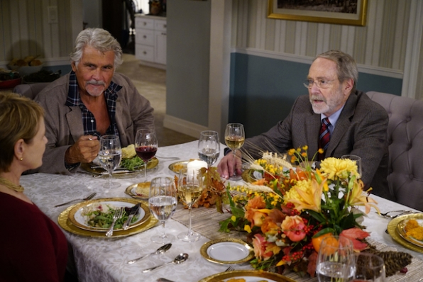 Joan invites over her neighbor, Gary Timpkins (Martin Mull), to join the family for Thanksgiving