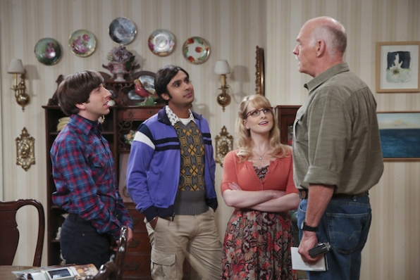 It's Howard and Raj vs. Bernadette and her dad in a remodeling showdown