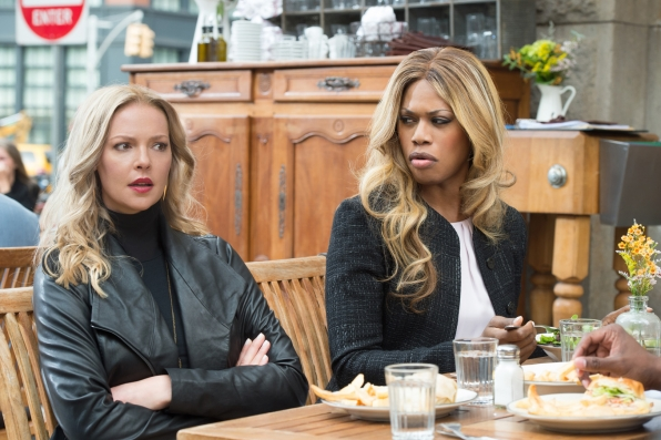 Sadie Ellis (Katherine Heigl) and Cameron Wirth (Laverne Cox) in Doubt
