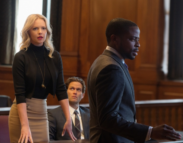 Sadie Ellis (Katherine Heigl), Billy (Steven Pasquale), and Albert (Dulé Hill) in Doubt