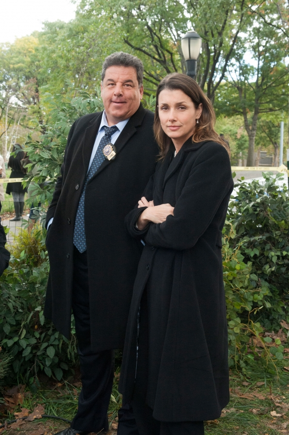 Steve Schirripa as Anthony Abetemarco and Bridget Moynahan as Erin Reagan-Boyle