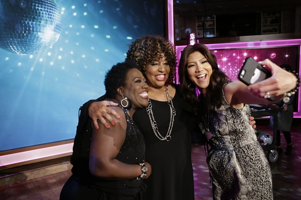 Sheryl Underwood, Cheryl Lynn and Julie Chen