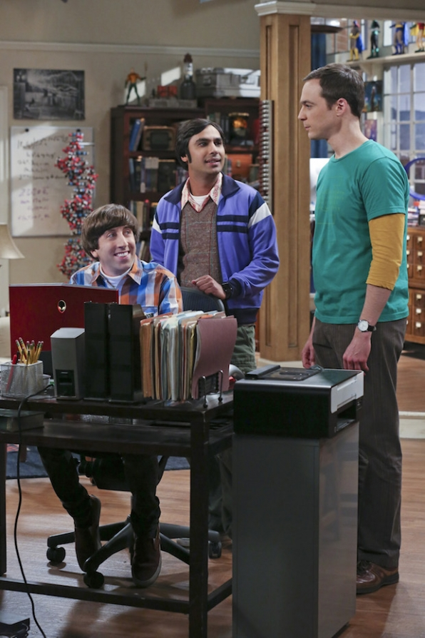 Raj and Howard work on Sheldon's online dating profile