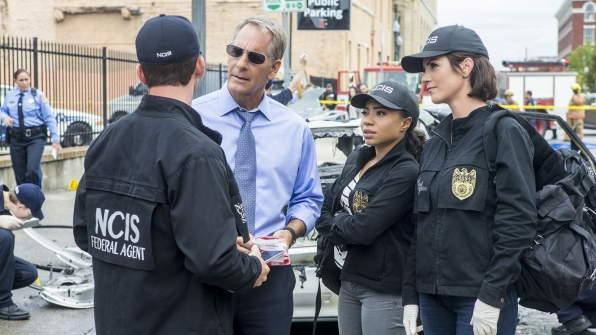 Scott Bakula as Dwayne Pride, Shalita Grant as Sonja Percy, and Zoe McLellan as Meredith Brody