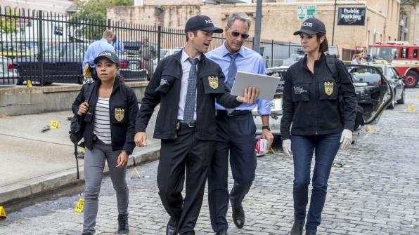 Shalita Grant as Sonja Percy, Lucas Black is Christopher LaSalle, Scott Bakula as Dwayne Pride, and Zoe McLellan as Meredith Brody