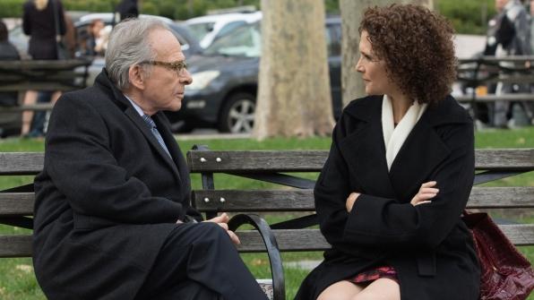 Ron Rifkin as Dennis Finch and Mary Elizabeth Mastantonio as Nasreen Pouran