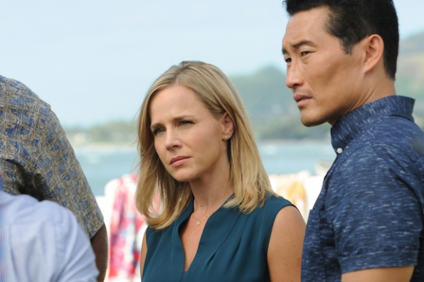 Julie Benz as Inspector Abby Dunn and Daniel Dae Kim as Chin Ho Kelly