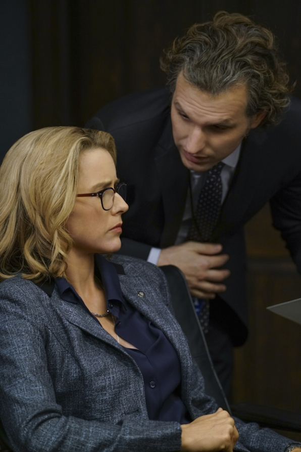 Téa Leoni as Elizabeth McCord and Sebastian Arcelus as Jay Whitman