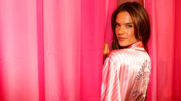 What's behind the curtain, Alessandra Ambrosio?