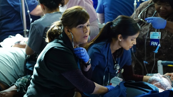 Marcia Gay Harden as Dr. Leanne Rorish and Melanie Chandra as Dr. Malaya Pineda