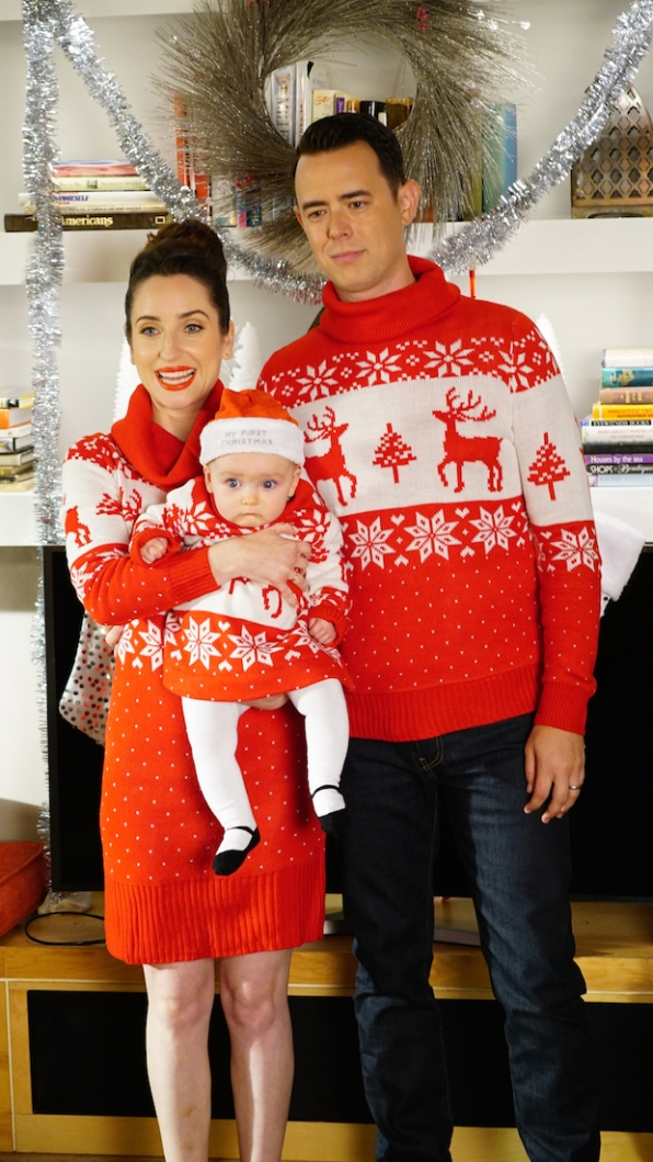 Jen, Greg and Lark are ready for Christmas
