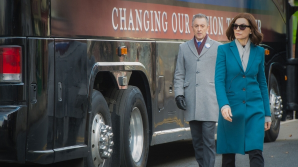 Alan Cumming as Eli Gold and Julianna Margulies as Alicia Florrick