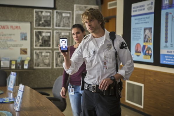 Daniela Ruah as Kensi Blye and Eric Christian Olsen as Marty Deeks