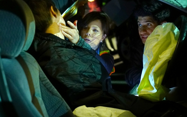 Marcia Gay Harden as Dr. Leanne Rorish and Raza Jaffrey as Dr. Neal Hudson
