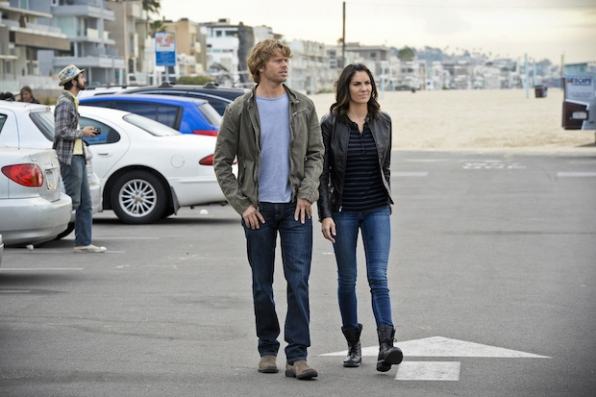 Eric Christian Olsen as Marty Deeks and Daniela Ruah as Kensi Blye