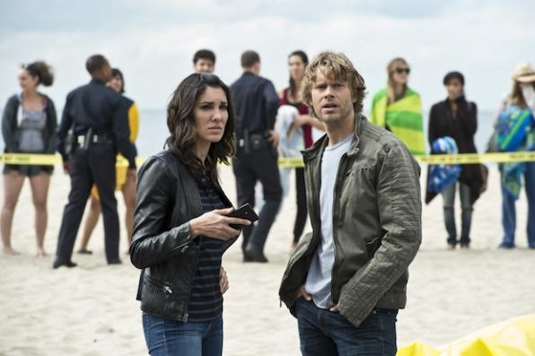 Daniela Ruah as Kensi Blye and Eric Christian Olsen as Marty Deeks