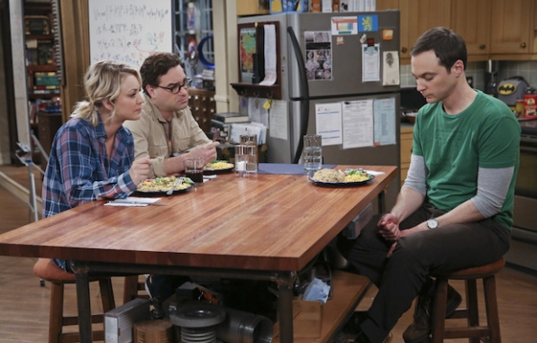 Sheldon confides in Penny and Leonard