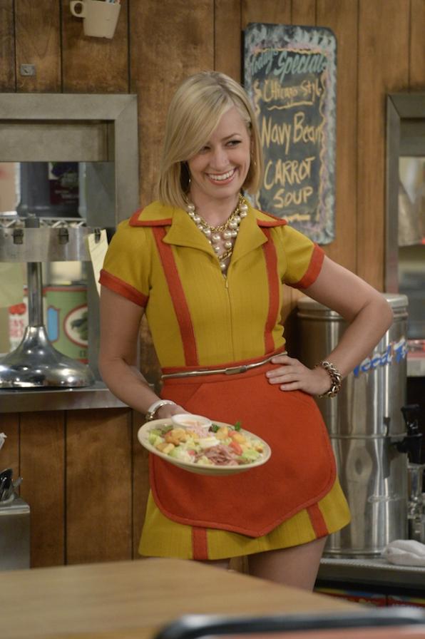 Caroline shows off the diner's goods.