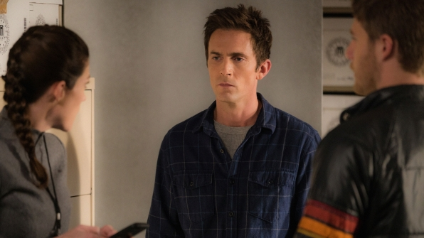 Jennifer Carpenter as Agent Rebecca Harris, Desmond Harrington as Agent Casey Rooks, and Jake McDorman as Brian Finch