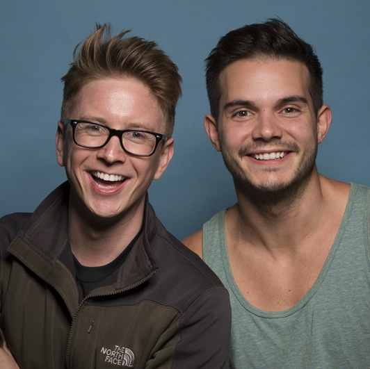 Tyler Oakley and Korey Kuhl: Friends