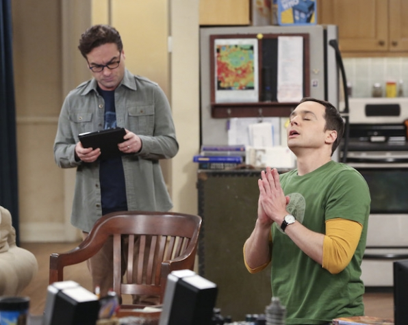 Sheldon prays for answers.