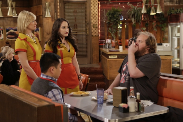 Max and Caroline make a customer nervous.
