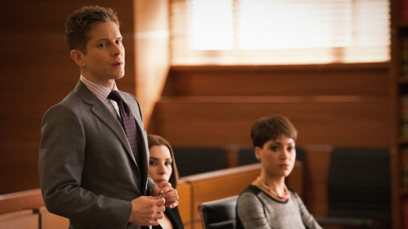Matt Czuchry as Cary Agos and Cush Jumbo as Lucca Quinn