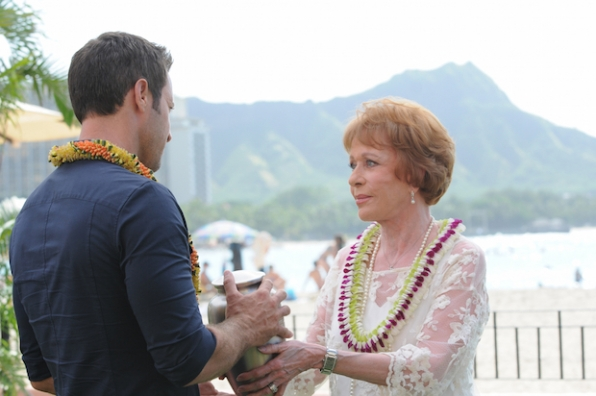 Alex O'Loughlin as Steve McGarrett and Carol Burnett as Deb McGarrett