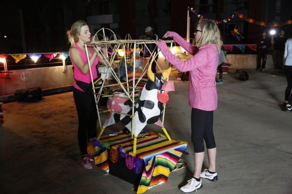 "Hagan and Marty must build the frame of a ""torito"" to create fireworks."