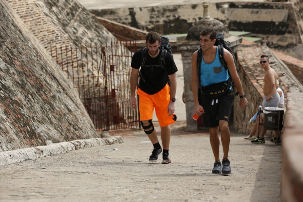 Brody and Kurt get ready to search the catacombs in Colombia.
