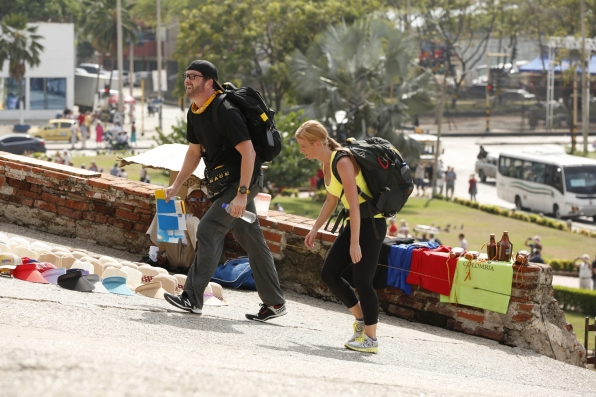 Burnie and Ashley feel the heat in Colombia.