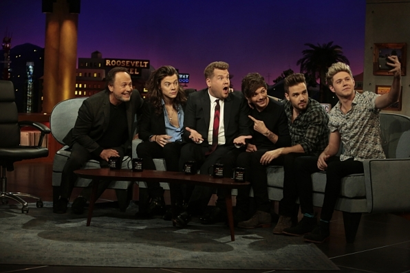 James Corden could hardly believe he took a selfie with One Direction AND Billy Crystal.