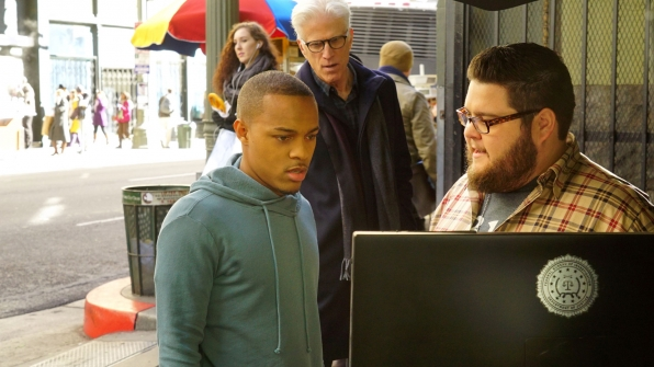 Shad Moss as Brody Nelson, Ten Danson as D.B. Russell, and Charley Koontz as Agent Daniel Krumitz