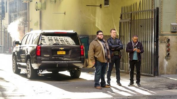 Charley Koontz as Agent Daniel Krumitz, James Van Der Beek as Agent Elijah Mundo, and Shad Moss as Brody Nelson