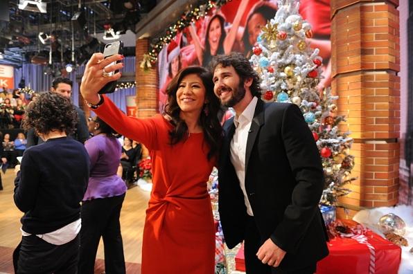 Julie Chen and Josh Groban