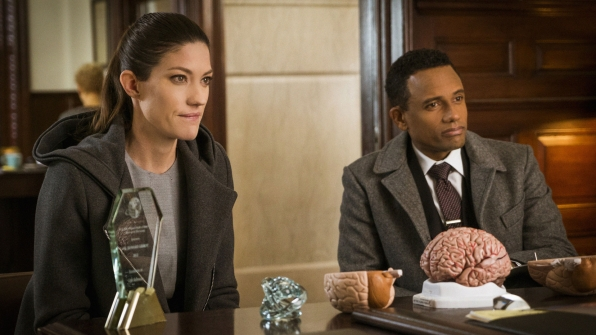 Jennifer Carpenter as Agent Rebecca Harris and Hill Harper as Agent Spellman Boyle