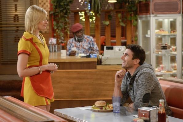 Caroline is charmed by a flirty customer.