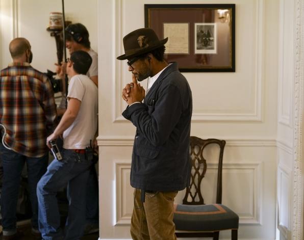 Director Rob Greenlea ponders a scene.