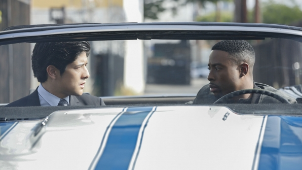 Lee and Carter go for a ride together.